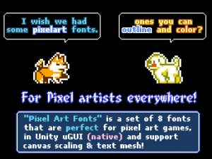 Pixel Art Fonts Free Download Unity Asset Collection